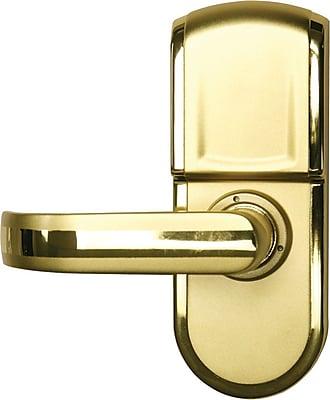 Gentil ITouchless Bio Matic Fingerprint Door Lock Gold   Left Handle.  Https://www.staples 3p.com/s7/is/