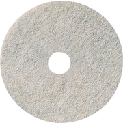 "3M Burnishing Pad, Natural Blend White Pad 3300, 27"", 5/Ct"
