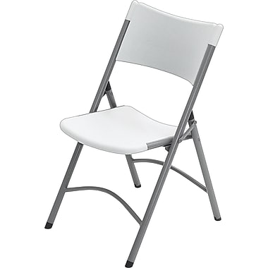 Office Star Resin Folding Chair, Light Grey