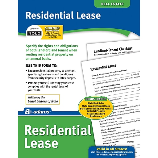 Adams Residential Lease Staples