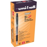 Uni-Ball 207 Impact Stick Gel Pen, Bold Point, Red Ink, 12/pk (65802)