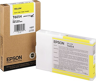 Epson 605 110ml Yellow UltraChrome Ink Cartridge (T605400)