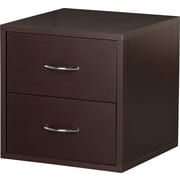 "Foremost® Hold'ems Modular Cube Storage System, Espresso 15""H x 15""W x 15""D 2-Drawer Cube"