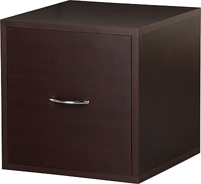 Foremost® Hold'ems Modular Cube Storage System, Espresso Cube with One Drawer