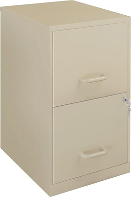 Office Designs 2 Drawer Vertical File Cabinet, Putty/Beige, Letter, 18''D (17369)
