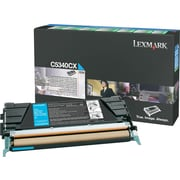 Lexmark Cyan Toner Cartridge (C5340CX), Extra High Yield, Return Program