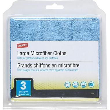 Staples MicroFiber Cloths 3/pk