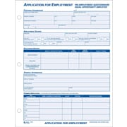 "Adams® Employment Application Forms, 8-1/2"" x 11"", 1 Part"