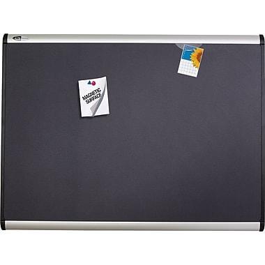 Quartet® - Tableau d'affichage aimanté avec surface en tissu, 48 po x 36 po