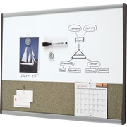 "Staples Premium Bulletin and Dry-Erase Combination Board, Aluminum Frame, 18"" x 24"""