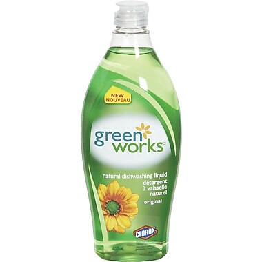 Green Works® Dishwashing Liquid, 650 mL, Original Scent (CL01123)