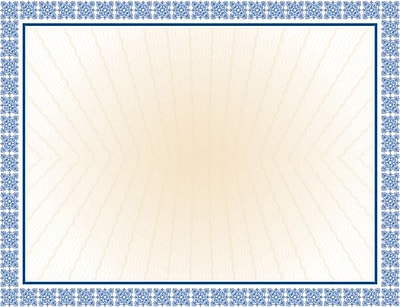 Great Papers® Westminster Blue Foil Certificates, 15/Pack