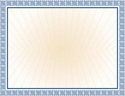Masterpiece Studios Parchment Certificate, 24-lb., Westminster Blue, 8 1/2