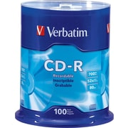 Verbatim® CD-R 52x 700MB/80Min, 100-Pack Spindle