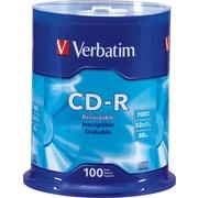 Verbatim® - CD-R 52x 700 Mo/80 min, paq. cyl./100
