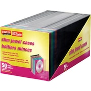 Staples® Slim CD Jewel Case, 50-Pack