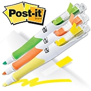 Post-it® Flag Highlighters, Chisel, Assorted Colors, 3/Pk