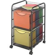 Safco® Onyx™ Mesh File Cart , 2 File Drawers, Black (5212BL)