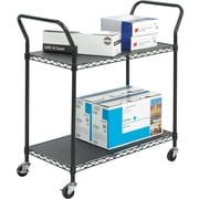 Safco® 5337 Wire Utility Cart, 2 shelves, Black