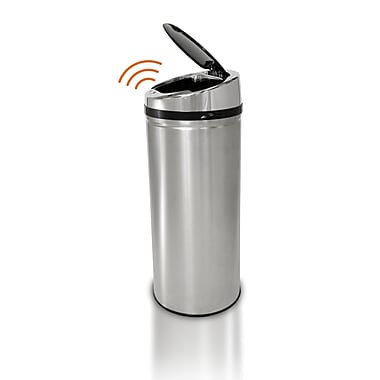 iTouchless Fully Automatic Stainless Steel Touchless Trash Cans® NX, 8 gal.