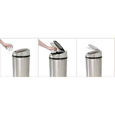 iTouchless Fully Automatic Stainless Steel Touchless Trash Cans® NX