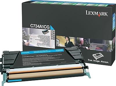 Lexmark Cyan Toner Cartridge (C734A1CG), Return Program