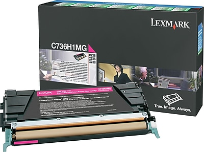 Lexmark Magenta Toner Cartridge (C736H1MG), High Yield, Return Program
