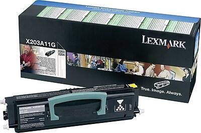 Lexmark X203A11G Black Return Program Toner Cartridge