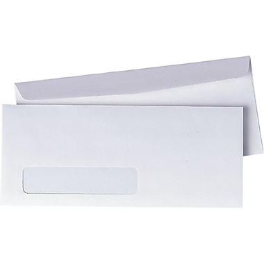 Quality Park Envelopes White Preserve Window #10, 4-1/8