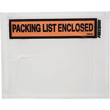 Duck® Panel Print Packing List Envelopes, 4-1/2