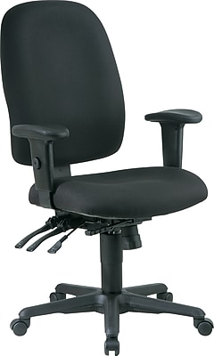 Office Star Fabric Computer and Desk Office Chair, Black, Adjustable Arm (43819-231)
