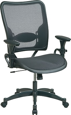 Office Star SPACE® Professional Ergonomic Air Grid™ Chair, Black, Seat: 21 3/4