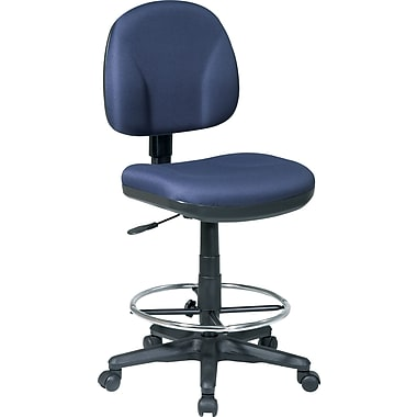 Office Star™ Fabric Armless Drafting Chair, Navy