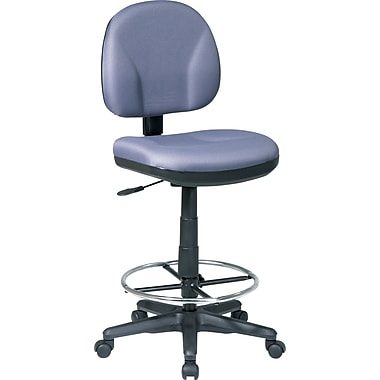 Office Star Swivel Fabric Drafting Chair, Armless, Gray
