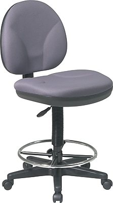 Office Star™ Fabric Drafting Stool. Gray