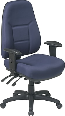 Office Star™ Fabric Computer and Desk Office Chair, Navy, Adjustable Arm (2907-225)