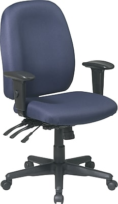 Office Star Fabric Computer and Desk Office Chair, Blue, Adjustable Arm (43819-225)