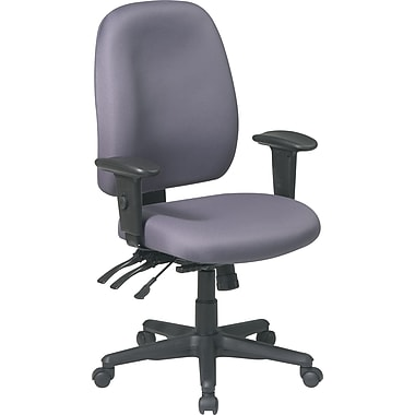 Office Star Fabric Computer and Desk Office Chair, Gray, Adjustable Arm (43819-226)