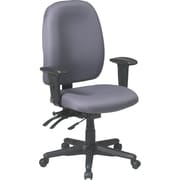Office Star Fabric Computer and Desk Office Chair, Gray, Adjustable Arm (43998-226)
