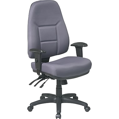 Office Star™ Fabric Computer and Desk Office Chair, Gray, Adjustable Arm (2907-226)