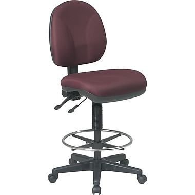 Office Star™ Deluxe Ergonomic Drafting Chair, Burgundy