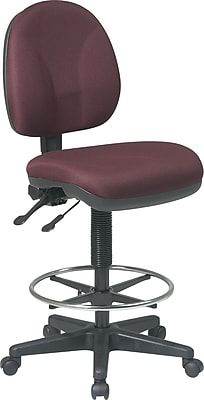 Office Star™ Deluxe Ergonomic Drafting Chair, Burgundy