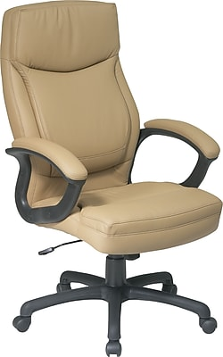 Office Star™ Leather Executive Office Chair, Tan, Fixed Arm (EC6583-EC21)