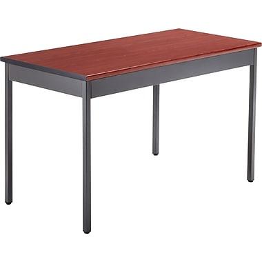 OFM 48''Lx24''D Rectangular Utility Table, Cherry