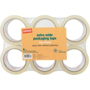 "Staples Moving and Storage Packing Tape, 1.88"" x 109 yds, Clear, 6/Pack (ST-A26-L6)"