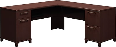 Bush Business Enterprise 72W x 72D L-Desk, Mocha Cherry