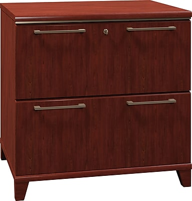 Bush Business Furniture Enterprise 30W 2-Drawer Lateral File, Harvest Cherry (2954ACS-03FA)