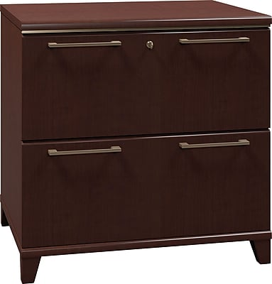 Bush Business Furniture Enterprise 30W 2-Drawer Lateral File, Mocha Cherry (2954MC-03FA)