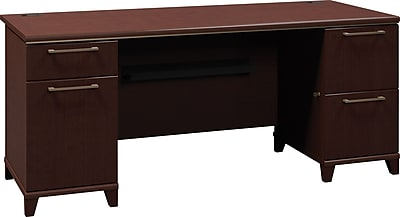 Bush Business Furniture Enterprise 72W Double Pedestal Desk, Mocha Cherry (2972MC-03KFA)