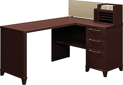 Bush Business Enterprise 60W x 47D Corner Desk Solution, Mocha Cherry